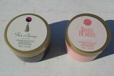 Vintage Avon Perfumed Skin Softener Lotion Body Cream 5oz jars Lot of 2 95% full