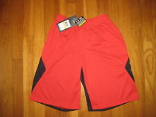 NEW Under Armour boys From Downtown basketball SHORTS black red YMD M Heatgear