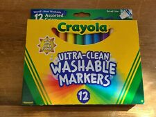 24 Crayola Ultra Clean Washable Markers Broad Line Assorted Color 12 Pk