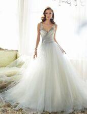 SophiaTolliY11550 Misty Gray Ball Gown Sleeveless Sweetheart Wedding Dress
