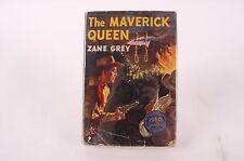 The Maverick Queen by Zane Grey 1950 Harper & Bros FIRST EDITION Printing w/ DJ