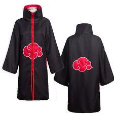 Naruto Akatsuki Itachi Uchiha Deluxe Men's Cloak Cosplay Halloween Costume