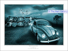 VW Volkswagen Beetle Bug Fantasy Art Print Picture Signed Limited Edition