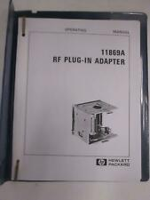 HP 11869A RF Plug-In Adapter Operating Manual, Used