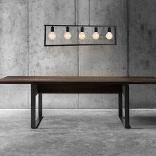 [lux.pro] Lámpara Colgante metal negro de Techo Iluminación 5 Focos Diseño