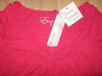 NEW WOMEN'S CLOTHES CERISE T SHIRT TOP EPILOGUE NATURAL COTTON UK SIZE 12 BNWT