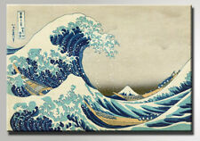 HOKUSAI LA GRANDE ONDA THE GREAT WAVE  STAMPA SU TELA CANVAS 50 X 70