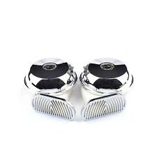 2 Pcs Silver Universal 12V Loud 3Type Sound Snail  Electric Horn For Car Truck