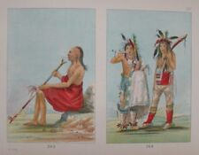 GEORGE CATLIN  - 1926 - PLATE 147 - COO-COO-COO, MENOMINEE YOUTHS  - GENUINE