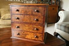 More details for antique collectors chest of 4 drawers – walnut – nice condition.