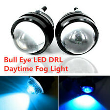 2Pcs LED Blue Fish Eye 6000K DRL Projector Lens Fog Daytime Running Light Bulbs