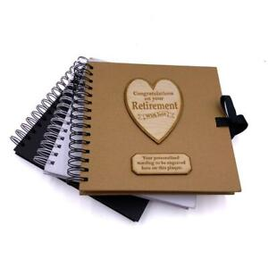 Personalised Retirement Scrapbook Photo album Guest Book Various Colours