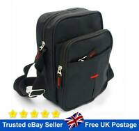 Black Cross Body Messenger Shoulder Bag Men Ladies Canvas Utility Travel Work
