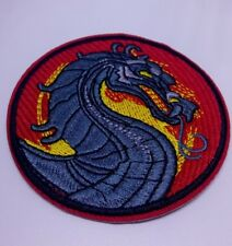 Mortal Kombat Dragon Iron On Sew On Patch Embroidery NEW