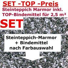 Steinteppich Aussenbereich 2-2,5 m² + LF68-Bindemittel AUSSEN 1-4mm