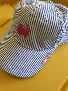 Masters Golf Hat In By Ladies Fit AmerNeedle Cap New with Tag- blue stripes