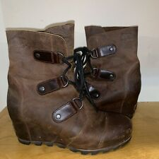 Sorel Joan Of Arctic Wedge Dark Brown Mid 9 Lea Chelsea