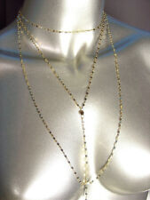 CHIC Urban Anthropologie Triple Strands Gold Link Chain Long Drop Necklace