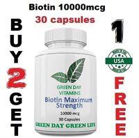 Biotin Maxium Strength 10000mcg Herb- Healthy Hair/Nails