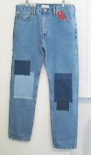 Levi's Altered 502 Tapered Carpenter Jeans Medium Stonewash w/Patching Sz 34x32