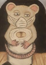 New listing Aceo Drawing 2020 year of the rat toilet paper face mask mouse