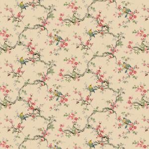 Bradbury and Bradbury Wallpaper - Vintage Songbirds