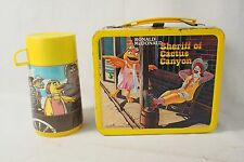 Ronald McDonald's Sheriff of Cactus Canyon metal lunch box Aladdin 1982 Thermos