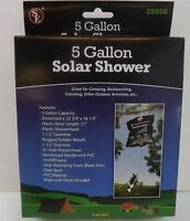 BRAND NEW OUTDOOR HANGING SOLAR SHOWER 5 GALLON CAPACITY PORTABLE TRAVEL CAMPING