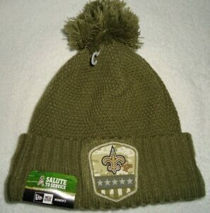 NEW ORLEANS SAINTS 2019 WOMENS SALUTE TO SERVICE NEW ERA  KNIT HAT NEW W/ TAGS