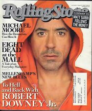 Rolling Stone August 21 2008 Robert Downey Jr., Michael Moore wML VG 082916DBE