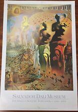 Grande Affiche SALVADOR DALI Muséum st Petersbourg 1969-1970 n° 02048 -bel état