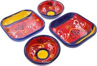 Set of 4 Tapas Bowls / Dishes 9 cm & 12 cm Spanish Handmade Ceramic Pottery