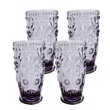 Set of 4 - Old Fashion Snow glass Elegant Barware and Drinkware Purple, 10 Oz