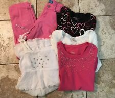 Girls Lot Size 10-12 Shirts Pants Dress & Cardigan 5 PC Lot