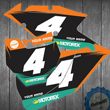 KTM NUMBER PANEL GRAPHICS BACKGROUNDS 85 125 150 250 300 450 MOTOCROSS ENDURO