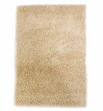 Textured Ultra Long Pile Shaggy Rugs that won't shed Cream / Beige 80 x 150cm