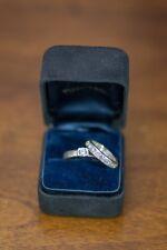 tiffany and co. platinum diamond engagement ring and Wedding Band