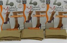 6 Pares de media tobillero socks socquette 15 d antipresión T.U BEIG Isabel Mora