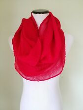 Cejon red sparkly infinity loop scarf