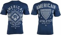 AMERICAN FIGHTER Mens T-Shirt SANTA CLARA Athletic NAVY BLUE Biker Gym $40