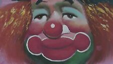 Original Goeth Art - Happy Face Clown Painting on Canvas - Oil Signed Authentic