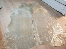 Kuhfell Stierfell  neu hellbeige/silber metallic 220cm x 210cm Fellschmiede