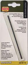 PROXXON 12 x Scroll lame di sega 34tpi 28118 / diretta da attrezzi RDG