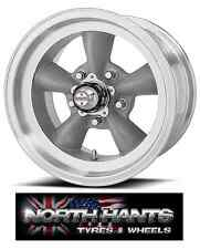 15X4.5 5-4.50 AMERICAN RACING TORQ THRUST D GRAY W/MACH LIP VN-105 CHEVY,HOT-ROD