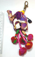 Keyring Elephant Key Chain Gift Charm Bag Gift Cute Handmade Thai Fabric Hmong