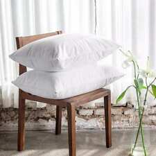 WATERPROOF PILLOW PROTECTOR COVER PAIR WITH ZIP ANTI ALLERGIC COTTON SOFT TERRY