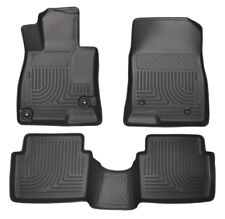 2014-2018 Mazda 3 Husky WeatherBeater Black Front & Second Row Black Floor Liner