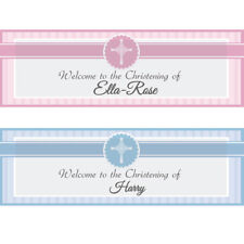 2 Personalised Christening Banner 1st Baby Birthday BAPTISM HOLY COMMUNION
