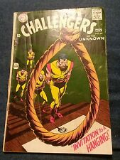 Challengers of the Unknown #64 Vg silver age dc comics lot run set collection