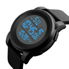 Luxury Men Analog Digital Military Army Sport LED Waterproof Wrist Watch Black